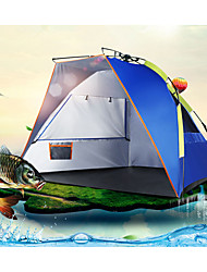 cheap -3-4 persons Beach Tent Tent Single Camping Tent One Room Automatic Tent Rain-Proof Dust Proof for Camping / Hiking 1000-1500 mm