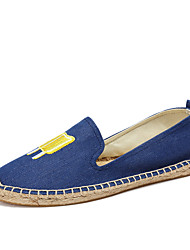 cheap -Women's Shoes Linen Summer Fall Comfort Loafers & Slip-Ons for Casual Beige Dark Blue Blue