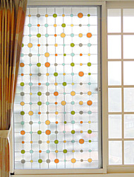 cheap -Art Deco Christmas Window Sticker, PVC/Vinyl Material Window Decoration Living Room