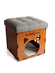 Hund Betten Haustiere Körbe Solide Warm Tragbar Atmungsaktiv Klappbar Weich Grau Blau