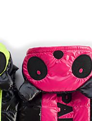 Cane Cappottini Abbigliamento per cani Tenere al caldo Lettere & Numeri Fucsia Verde