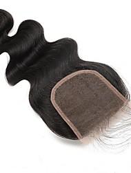 Недорогие -CARA 5x5 Закрытие Классика Бесплатный Часть / Средняя часть / 3 Часть Французское кружево Натуральные волосы Повседневные