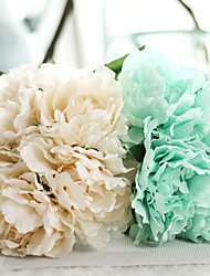 cheap -10inch Large Size 5 Heads Silk Polyester Peonies Tabletop Flower Artificial Flowers