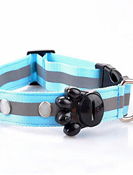 cheap -Rodents Dog Collar Bark Collar LED Lights Portable Safety Adjustable Polka Dot Fabric Red Green Pink Light Blue Cold White