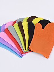 2PC Random Color Silicone Microwave Lengthened Thick Insulation Cotton Kitchen Cooking Baking Gloves Heat-resistant Oven Glove