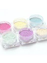 PINPAI 6PCS Grooming Nail Salon Tool Nail Art Photographic Light Powder