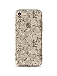 Taske til iphone 7 plus 7 cover gennemsigtigt mønster bagcover case træ blødt tpu til iphone 6s plus 6 plus 6s 6 se 5s 5c 5 4s 4