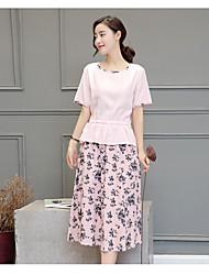 abordables -Mujer Blusa - Floral, Estampado Falda