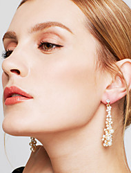 Drop Earrings Pearl Imitation Pearl Rhinestone Alloy Gold Jewelry Party 1 pair