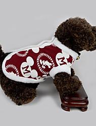 Недорогие -Собака Жилет Одежда для собак Дышащий На каждый день Новый год Буквы и цифры Костюм Для домашних животных