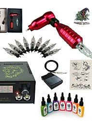 cheap -1 Set High Born Tattoo Kit HB1 1 Ratory Machine With 7x15ML Inks 5 Needles Power Supply Switch