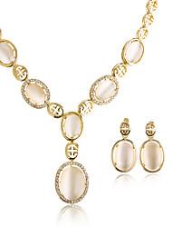 economico -Per donna Collane con ciondolo Opale Opal sintetico Geometrico Circolare Pendente Classico Vintage Regolabile Matrimonio Feste Compleanno