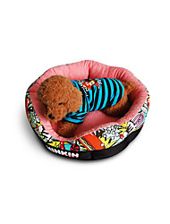 preiswerte -Hund Betten Haustiere Matten & Polster Geometrisch Cartoon Design Warm Weich Beige Blau Rosa Für Haustiere