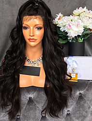 New Style Unprocessed Wave Lace Front Wig 150% Density Brazilian Human Hair Wigs With Baby Hair For Women