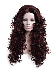 Brown Color Long Wave Africa American wigs Synthetic Ladys' Wig