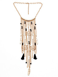 Women's Statement Necklaces Jewelry Geometric Alloy Unique Design Tassel Sexy Crossover Fashion Punk Hip-Hop Multi-ways Wear Jewelry For