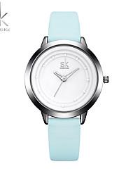 cheap -Women's Sport Watch Fashion Watch Wrist watch Chinese Quartz Shock Resistant Large Dial PU Band Casual Cool Elegant Minimalist Blue