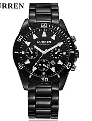 cheap -Men's Sport Watch Skeleton Watch Military Watch Quartz 50 m Water Resistant / Water Proof Calendar / date / day Creative Metal Band Analog Charm Casual Fashion Multi-Colored - White Black