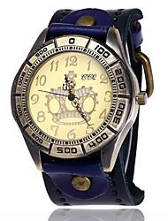 Per uomo Orologio braccialetto Creativo unico orologio Orologio casual Simulato Triangolo Orologio Cinese Quarzo Pelle Banda Vintage