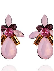 Stud Earrings Women's Girls' Euramerican Rhinestone Droplets Fashion Dailywear Party  Movie Jewelry