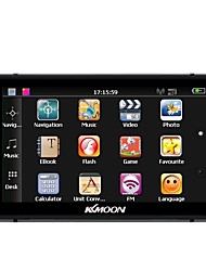baratos -Kkmoon 7 hd touch screen portátil gps navegador 128 MB ram 4gb rom fm mp3 video play carro sistema de entretenimento com caneta manuscrita