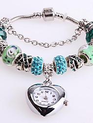Women's Bracelet Watch Digital Metal Band Red Green