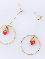 Drop Earrings Women's Personalized Long Adorable Simulation of Strawberry  Daily Party Daily Graduation Gift Movie Jewelry