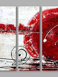 abordables -Peint à la main Abstrait Format Vertical, Artistique Toile Peinture à l'huile Hang-peint Décoration d'intérieur Trois Panneaux