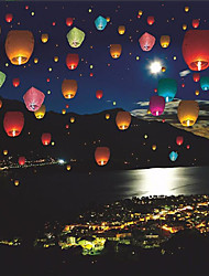 10Pcs/Set Colorful Wishing Lamp  Sky Lanterns Hot Air Lantern For Birthday Wedding Party Decoration