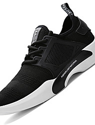 cheap -Men's Shoes Knit Spring Summer Vulcanized Shoes Comfort Athletic Shoes Running Shoes Draped For Athletic Gray Black