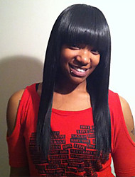 Capelli lunghi eterei lunghi neri capelli parrucche per capelli per le donne