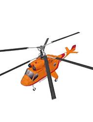 Недорогие -3D пазлы Оригами Летательный аппарат Вертолет Своими руками моделирование Плотная бумага Вертолет Детские Универсальные Мальчики Игрушки Подарок