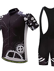cheap -Cycling Jersey with Bib Shorts Men's Bike Clothing Suits Bike Wear Anti-slip Strap Well-ventilated Softness Wicking Cycling / Bike