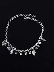 cheap -Women's Girls' Anklet Alloy Vintage Bohemian Handmade Hip-Hop Fashion Rock Punk Barefoot Sandals Gold Silver Jewelry For Christmas