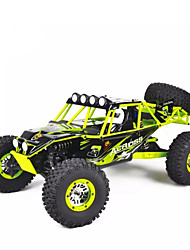 Carro com CR WL Toys 10428 2.4G Rock Climbing Car Off Road Car Monster Truck Bigfoot Alta Velocidade 4WD Drift Car Carroça 1:10 30 KM / H