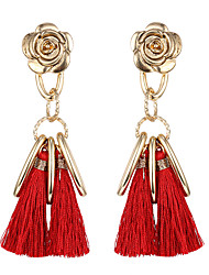 cheap -Women's Drop Earrings Jewelry Flower Style Tassel Flowers Natural Friendship Floral Adorable Sideways DIY Statement Jewelry Classic Chrome