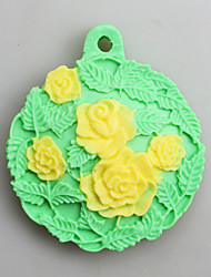 Five Flowers Fondant Mold DIY Silicone Soap Candle Mold Handmade Soap Salt Carved DIY Silicone Food Grade Silicone Mold