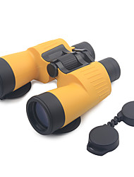 cheap -7 X 50mm Binoculars Anti Fog / High Definition / Matte Orange / Military / Wide Angle / Porro / Hunting / Bird watching