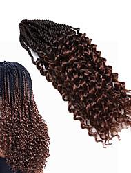 Недорогие -Кудрявый 100% волосы канекалона Накладки из натуральных волос Pre-петлевые вязания крючком плетенки косы волос Повседневные
