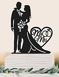 cheap -Cake Topper Wedding Birthday High Quality Plastic Wedding Birthday With PVC Bag