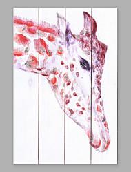 economico -Dipinta a mano Animali Verticale,Di tendenza Quattro Pannelli Tela Hang-Dipinto ad olio For Decorazioni per la casa