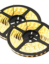 cheap -HKV® 1PCS 10M(2x5M) 80W 300LED 5630SMD Waterproof WhiteLight Normal Brightness Flexible LED Light Bar Strip (DC 12V)