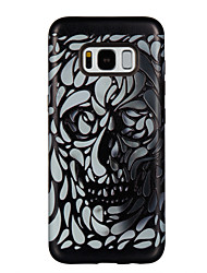 cheap -Case For Samsung Galaxy S8 S8 Plus Case Cover Flat Skeleton Pattern PC TPU Combo Strong Relief Drop Phone Case For Galaxy S7 S7 Edge S6 S6 Edge