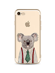 cheap -Case For Apple iPhone X iPhone 8 Plus Transparent Pattern Back Cover Cartoon Animal Soft TPU for iPhone X iPhone 8 Plus iPhone 8 iPhone 7