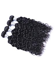 cheap -Brazilian Natural Wave Human Hair Weaves 4 Pieces 0.4
