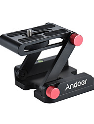 cheap -Andoer® New Z-shaped Aluminum Alloy Foldable Camera Camcorder Desktop Holder Quick Release Plate Tilt Head