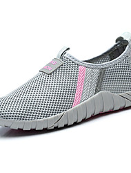 Women's Athletic Shoes Comfort Spring Fall Tulle Outdoor Flat Heel Fuchsia Light Grey Under 1in