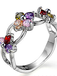cheap -Women's Ring Settings Band Rings Ring Cubic ZirconiaBasic Unique Design Animal Design Friendship Movie Jewelry Luxury Simple Style Floral