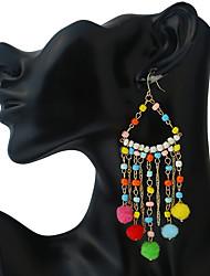 Femme Boucles d'oreille goutte Boucles d'oreilles à billes Géométrique Vintage Fait à la main Bijoux Fantaisie Résine Bijoux PourSoirée