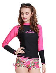 abordables -SBART Femme Costumes humides Chinlon Elasthanne Tenue de plongée Manches Longues Combinaisons Hauts/Top-Surf Sports Nautiques Plongée